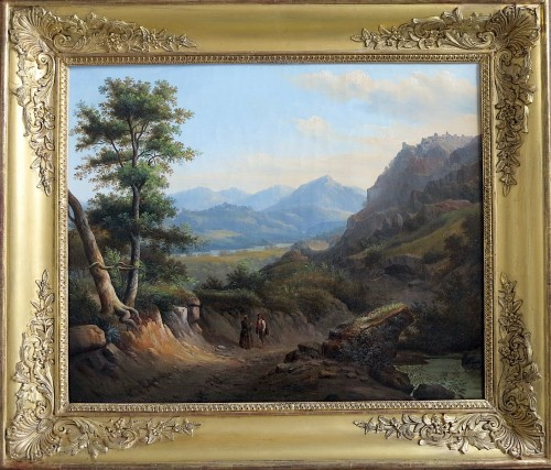 Alexandre François LOISEL (1783–1865) - Road from Subiaco to Tivoli