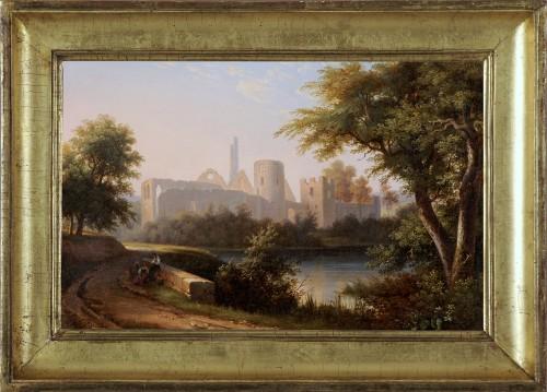 Antoine Félix BOISSELIER (1790-1857) - The ruins of the Château du Vivier