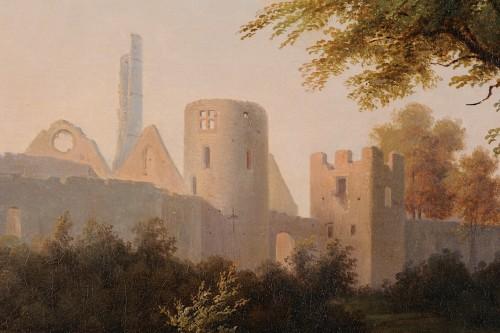 Paintings & Drawings  - Antoine Félix BOISSELIER (1790-1857) - The ruins of the Château du Vivier