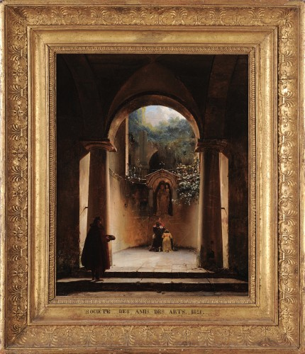 Henri-Édouard TRUCHOT (1798–1822) - Prayer to the Virgin in a ruined church