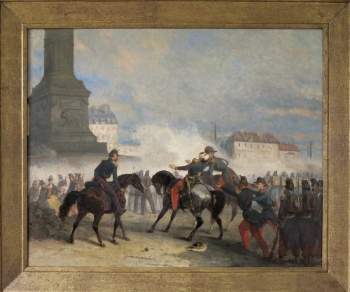 Nicolas Edward GABE (1814-1865) - The death of General Négrier, Paris