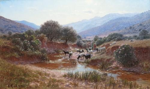 Antoine GADAN (1854–1934) - Around Bône, Algeria - Paintings & Drawings Style Art nouveau