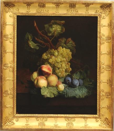 Jean-François VAN DAEL (1764-1840) - Grapes, peaches, and plums