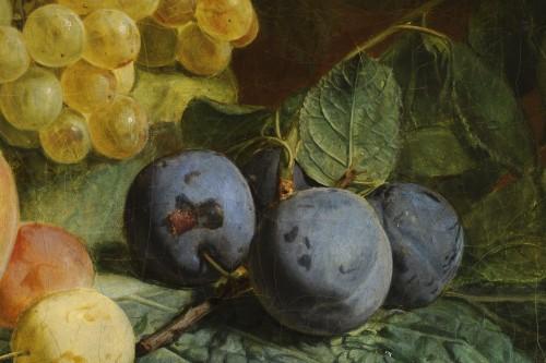 19th century - Jean-François VAN DAEL (1764-1840) - Grapes, peaches, and plums