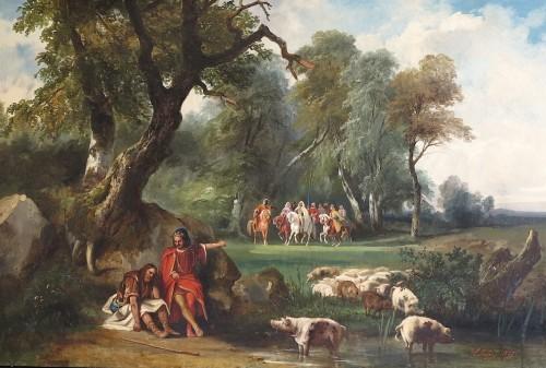 Auguste LEBOUYS (1812 –1854)  - Bois-Guilbert going to the castle of Cédric le Saxon