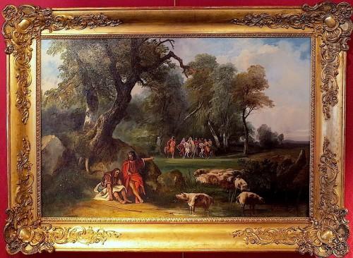 Auguste LEBOUYS (1812 –1854)  - Bois-Guilbert going to the castle of Cédric le Saxon -