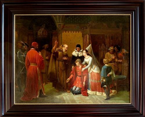 Nicolas GOSSE - Louis XI kneeling in front of Saint François de Paule