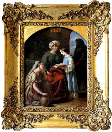 Louis FANELLI SEMAH (1804–1875) - The education of the Virgin