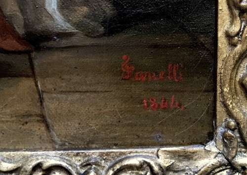 Paintings & Drawings  - Louis FANELLI SEMAH (1804–1875) - The education of the Virgin