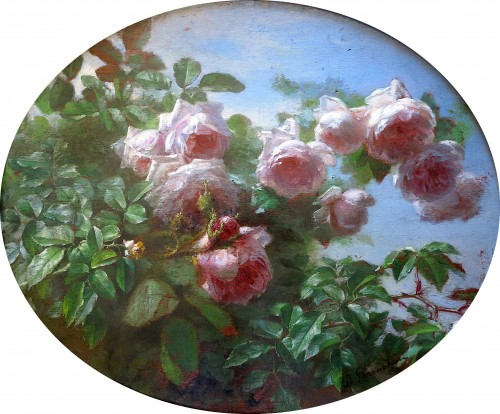 André PERRACHON (1828-1908) - Roses - Paintings & Drawings Style Napoléon III
