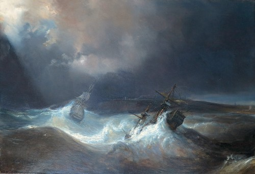 Théodore GUDIN (1802-1880) - The Tempest - Paintings & Drawings Style Napoléon III