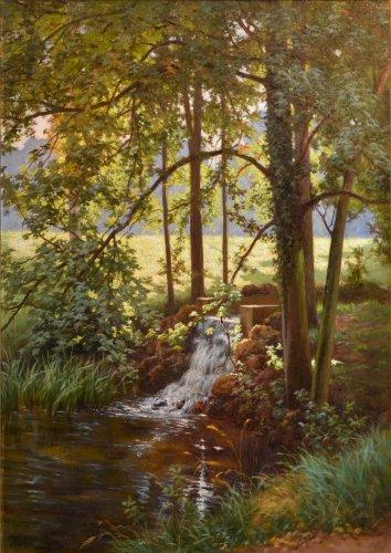 Sunny Undergrowth - Henri Biva (1848-1928)