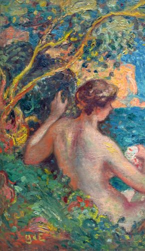 Women Bathing, before 1910 - Georges d'Espagnat (1870-1950) - Paintings & Drawings Style