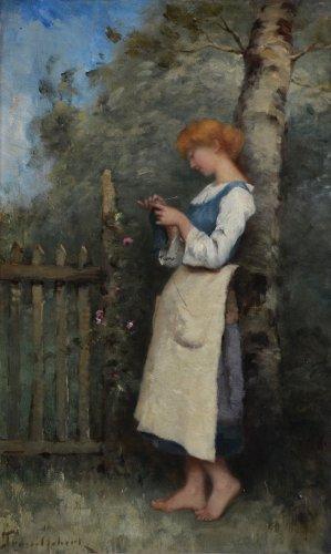 Paul-Désiré Trouillebert (1829-1900) - Knitting -