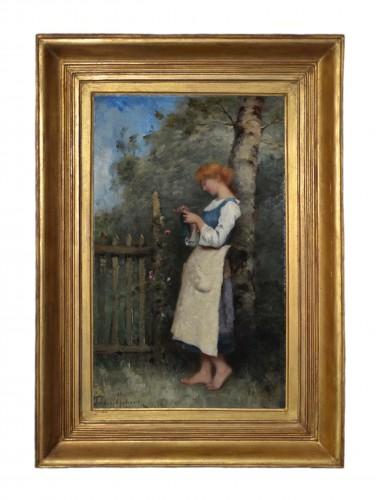 19th century - Paul-Désiré Trouillebert (1829-1900) - Knitting