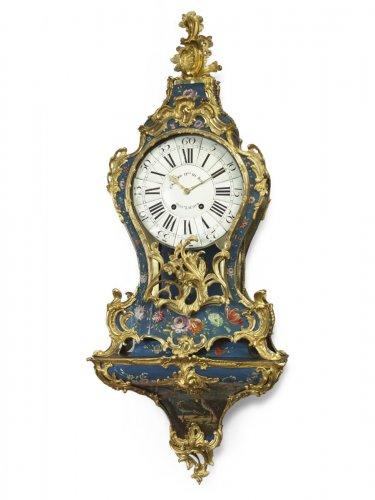 Blue Vernis Martin Cartel Clock - Edme Caussard