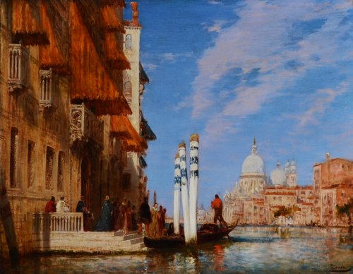 Palazzo Franchetti and the Salute - Félix Ziem (1821-1911)