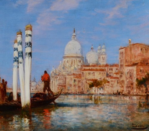 Palazzo Franchetti and the Salute - Félix Ziem (1821-1911)  - Paintings & Drawings Style