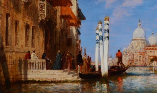 Paintings & Drawings  - Palazzo Franchetti and the Salute - Félix Ziem (1821-1911)