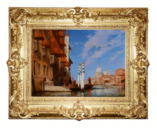 19th century - Palazzo Franchetti and the Salute - Félix Ziem (1821-1911)