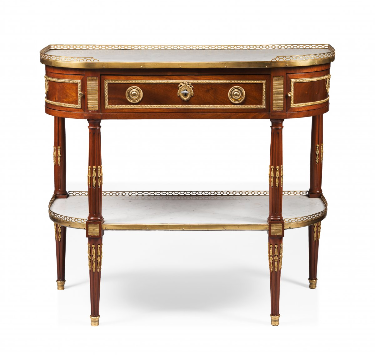 Half Moon Mahogany Console Table