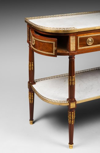 Half-Moon Mahogany Console Table - Furniture Style Louis XVI