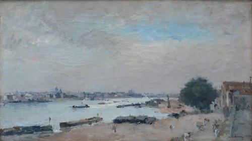 Albert Lebourg (1849-1928) - Docks of the Seine, 1880