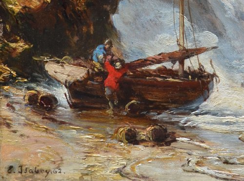 Eugène Isabey (1803-1886) - Back from Fishing - Paintings & Drawings Style