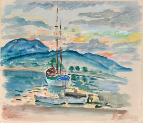 Henri Lebasque (1865-1937) - The Bay of Saint-Tropez
