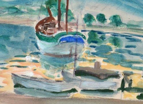 Paintings & Drawings  - Henri Lebasque (1865-1937) - The Bay of Saint-Tropez