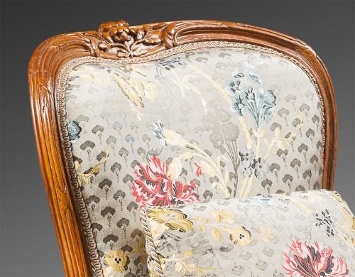 """Bergère """"en cabriolet"""" by Jean-Jacques Pothier - Seating Style Louis XV"""