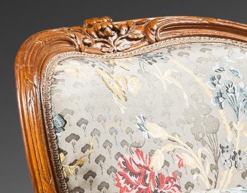 """Bergère """"en cabriolet"""" by Jean-Jacques Pothier - Louis XV"""