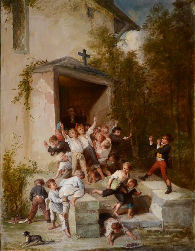 François Lanfant de Metz (1814-1892) - Leaving Church