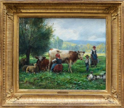 The milking of cows - Julien Dupré (1851-1910)