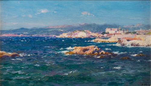 View of the cornice in Marseille - Jean-Baptiste Olive (1848-1936)