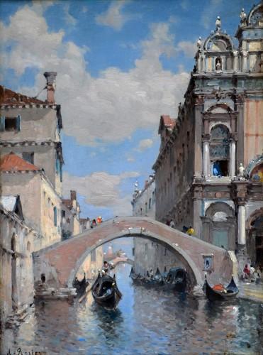 Amédée Rosier (1831-1898) - Venice view, Scuola Grande of San Marco, Campo San Giovanni e Paolo