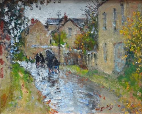 Rainy Weather in Moret-sur-Loing - Pierre-Eugène Montézin (1874-1946)