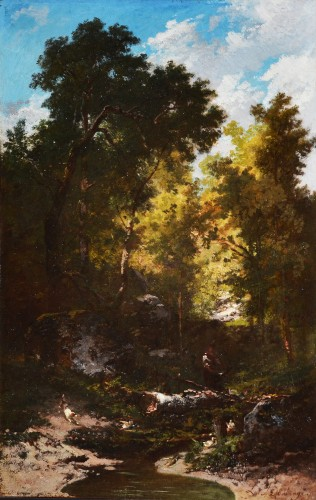 In the Forest of Fontainebleau - Louis Boulangé (1812-1859)