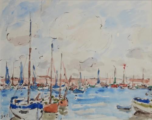 Sailboats in a Bay - Georges d'Espagnat (1870-1950)