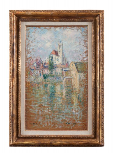 Gustave Loiseau (1865-1935) - Moret-sur-Loing, The Notre-Dame Church