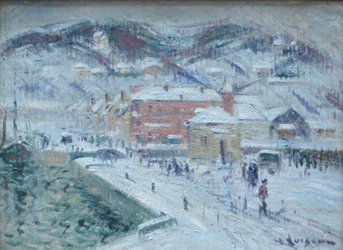 Port of Fécamp under the snow - Gustave Loiseau (1865-1935)