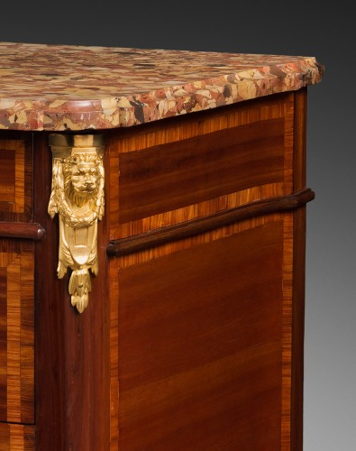 "Furniture  - ""Double Ressaut"" Satinwood Commode Stamped François BAYER"