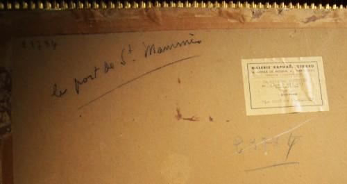 Pierre-Eugène Montézin (1874-1946) - The Port of Saint-Mammès - Paintings & Drawings Style