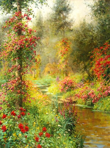 Louis Aston Knight (1873-1948) - A Rose Garden