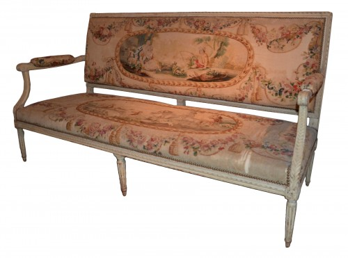 A Finely Carved Wooden Sofa