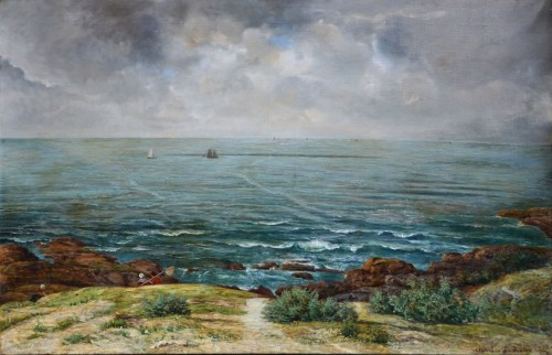 Charles Le Roux (1814-1895) - The Rising Sea at Préfailles