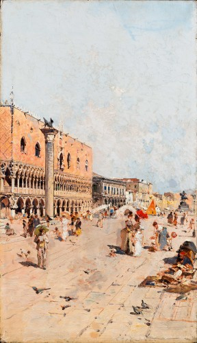 Franz Unterberger (entourage de) (1838-1902) - The Doge's Palace, Venice