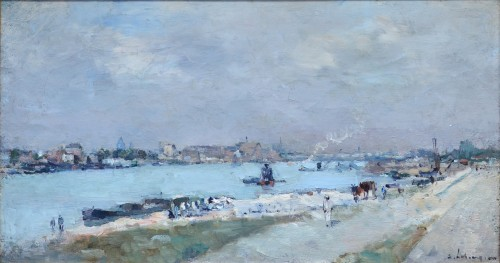 Albert Lebourg (1849-1928) - Dock of the Seine near the Austerlitz Bridge