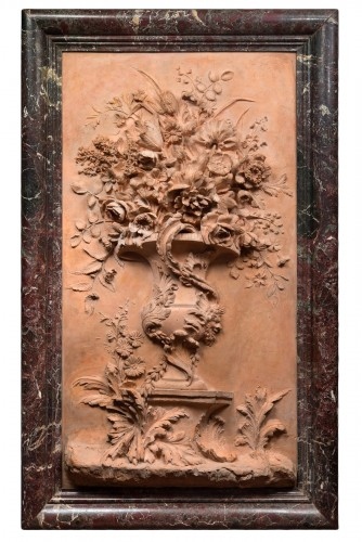 High Relief Patinated Plater, Imitation Terracotta