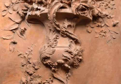 Sculpture  - High Relief Patinated Plater, Imitation Terracotta
